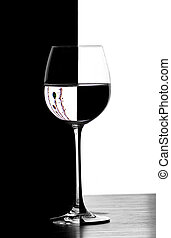 verre, domino, christmad, vin