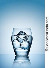 verre, glace, eau
