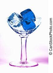 verre, glace