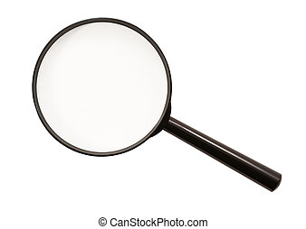 verre, (isolated), magnifier