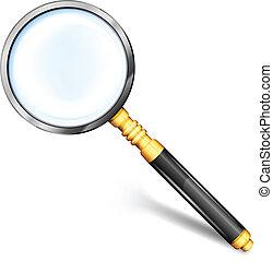 verre, magnifier, or