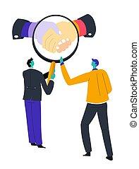 verre, magnifier, symbole, relation, business, commerce, ...