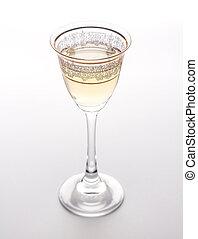 verre martini, isolé, sur, white.