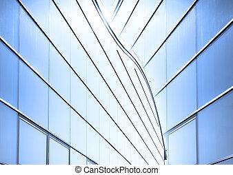 verre, moderne, mur,  architecture