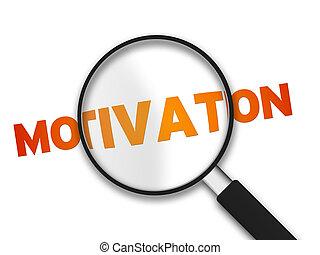 verre, motivation, mot, magnifier