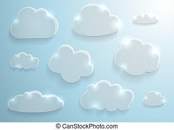 verre, nuages, collection