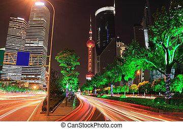 verre oosten, vakantie, nachtlampje, spoor, moderne architectuur