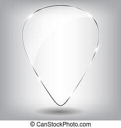 verre, parole, bubble., vecteur, illustration.