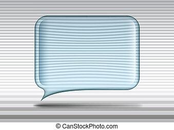 verre, parole, transparent, bulle