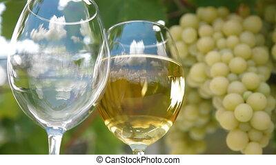 verre, reflet, vin