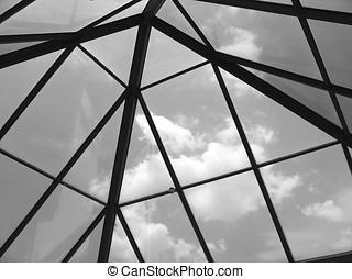 verre, toit bombé