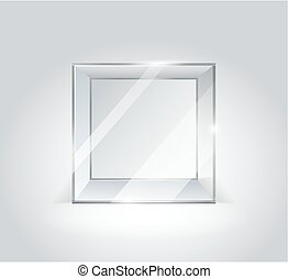 verre, transparent, cube., boxes.