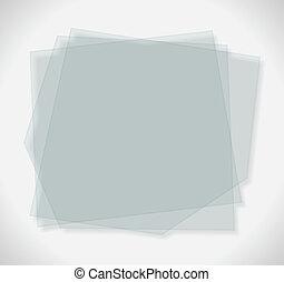 verre, transparent, plaques