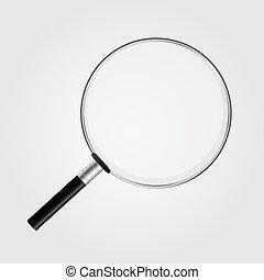 verre, vecteur, magnifier, illustration