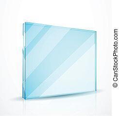 verre, vecteur, plaques