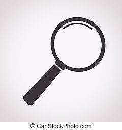 verre, verre, magnifier, icône, icône, recherche