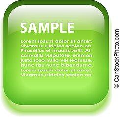 verre, vert, planche, information