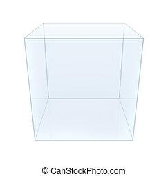 verre pi destal cube cube verre illustration pedestal fond blanc 3d. Black Bedroom Furniture Sets. Home Design Ideas