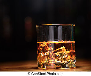 verre, vie, encore, luxe, whisky