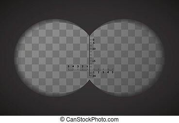verrekijker, transparant, achtergrond, aanzicht