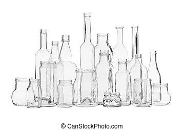 verrerie, plusieurs, transparent
