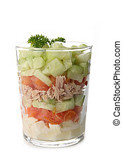 verrine of vegetable - verrine of fresh vegetable