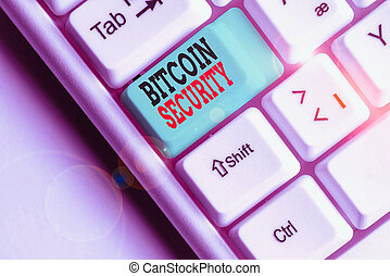 verrouillé, photo, conceptuel, bitcoin, projection,...