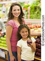 vers fruit, dochter, aankoop, moeder