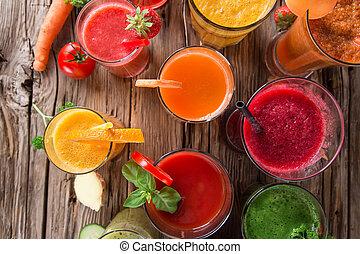 vers fruit, sap, gezonde , drinks.
