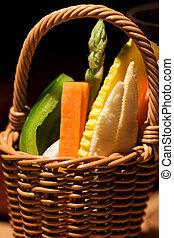 vers plantaardig, bio, groentes