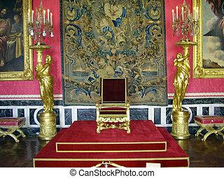 versailles., a, 皇家, 王位宝座