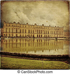 Versailles Castle, Paris, France - Royal Garden in the...