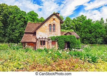 VERSAILLES, FRANCE - JULY 02, 2016 : Landscape of hamlet...