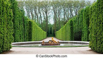 Versailles Garden, France - One of Versailles Palace garden,...