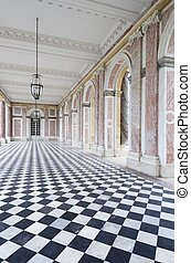 Versailles - colonnaded courtyard at the Grand Trianon in...