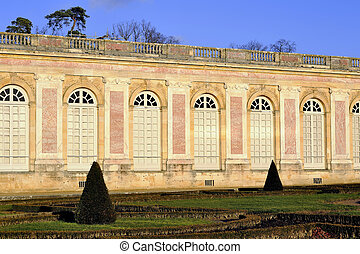 Versailles, the Grand Trianon in the park of the castle of...