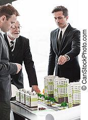 versammlung, architekten, anleger