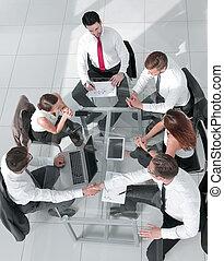 versammlung, gruppe, geschäftsmenschen