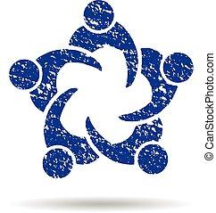 versammlung, stil, grunge, geschaeftswelt, logo
