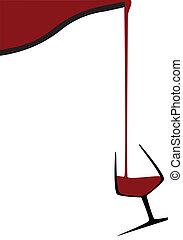 versando vetro vino