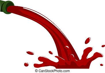 versant vin rouge