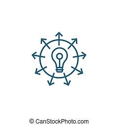 Versatile business line icon, vector illustration. Versatile business linear concept sign.