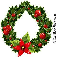 verschönerung, weihnachten, beere