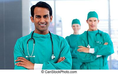 verscheidenheid, chirurgen, het tonen, groep