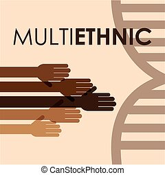verscheidenheid, multiethnic