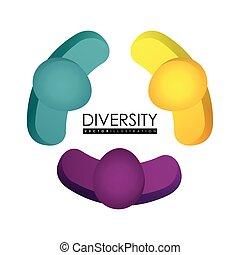 verscheidenheid, ontwerp, pictogram