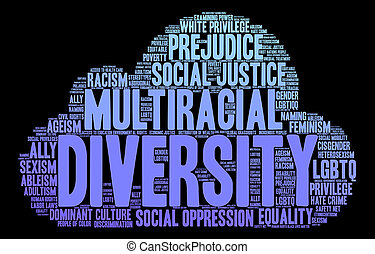 verscheidenheid, woord, wolk