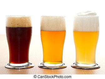 verschieden, art, von, bier