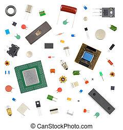 verschieden, elektronisch, komponenten