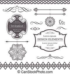 verschieden, elemente, design